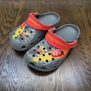 Crocs Grey Cars Lighting McQueen Shoes 12/13